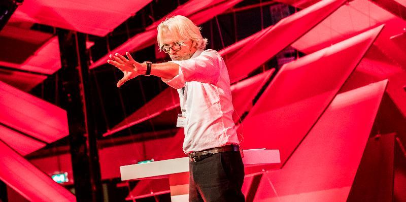 Harry te Riele tijdens Dutch Design Week, Eindhoven, okt 2017