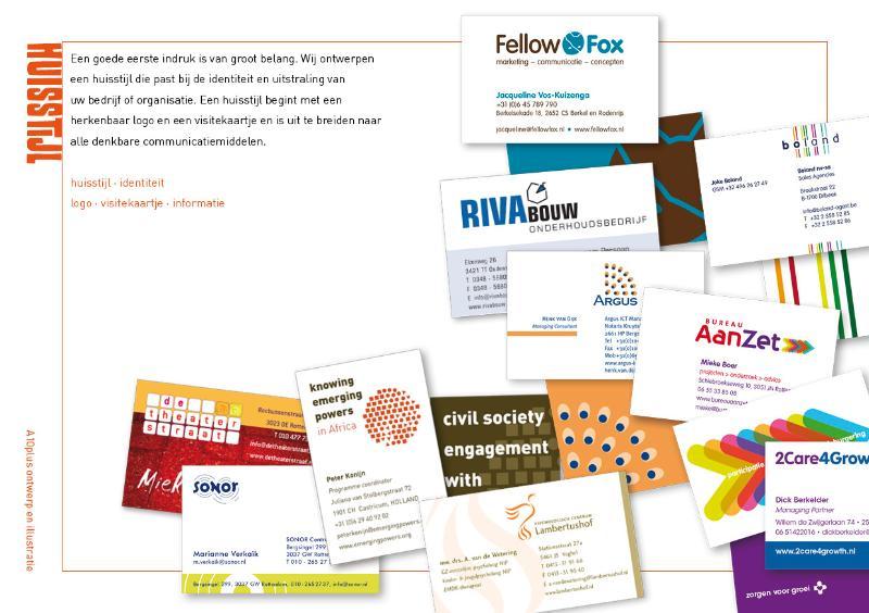 Een goede eerste indruk is van groot belang. Wij ontwerpen een mooi visitekaartje met uw logo.