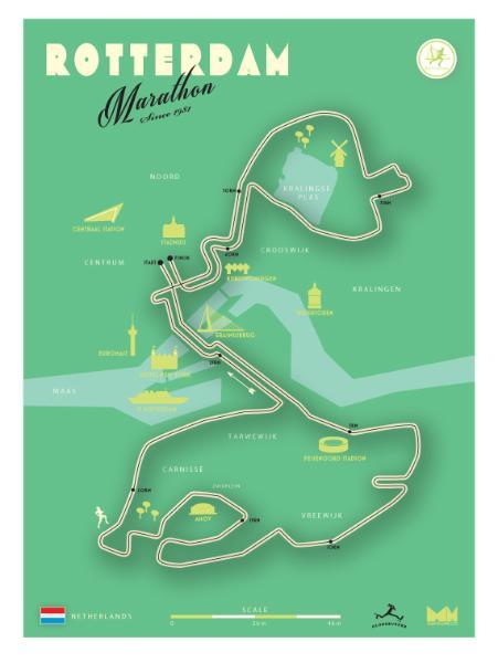 Mapman Marathonkaart Rotterdam